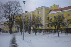 Škola od školní ulice v roce 2013